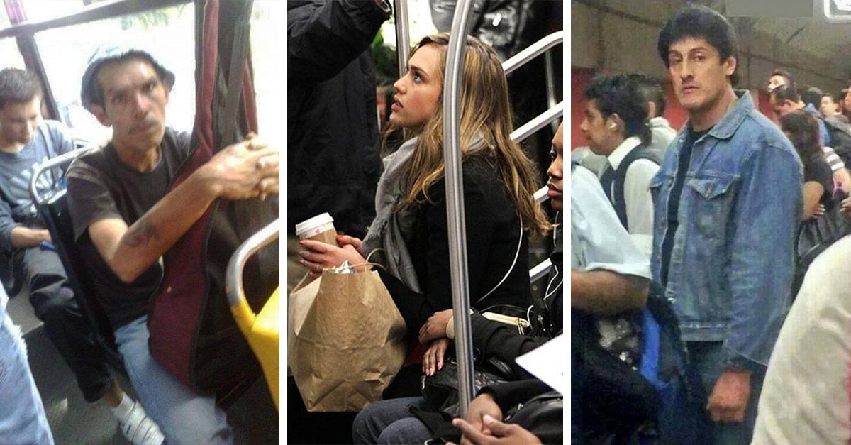 35 famosos en el transporte público