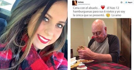 Foto de abuelo que dejan plantado sus nietos para cenar se vuelve viral