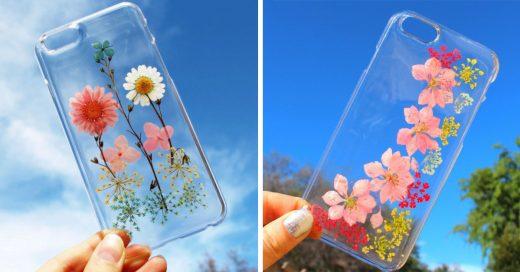 Increíbles fundas para el celular con flores reales para celebrar la llegada de la primavera