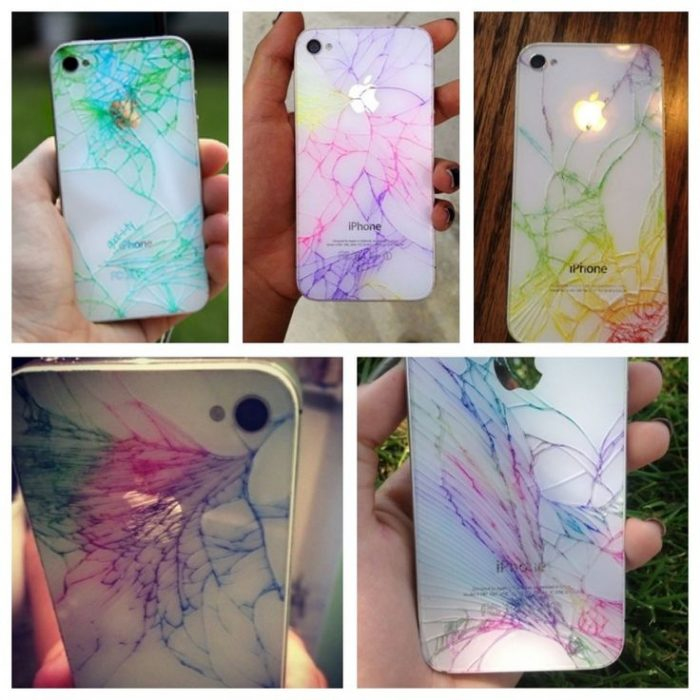como decorar tu iphone case quebrado con sharpie