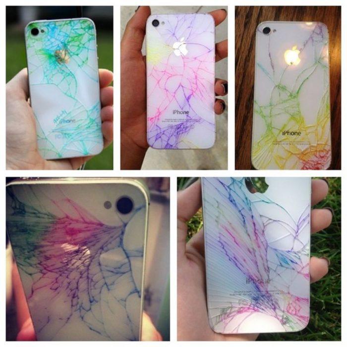 como decorar tu iphone case quebrado con sharpie