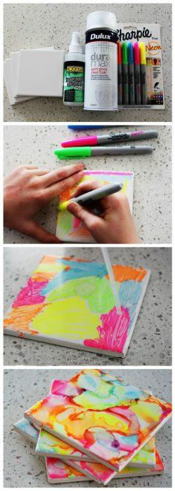 azulejos pintados con sharpie diy