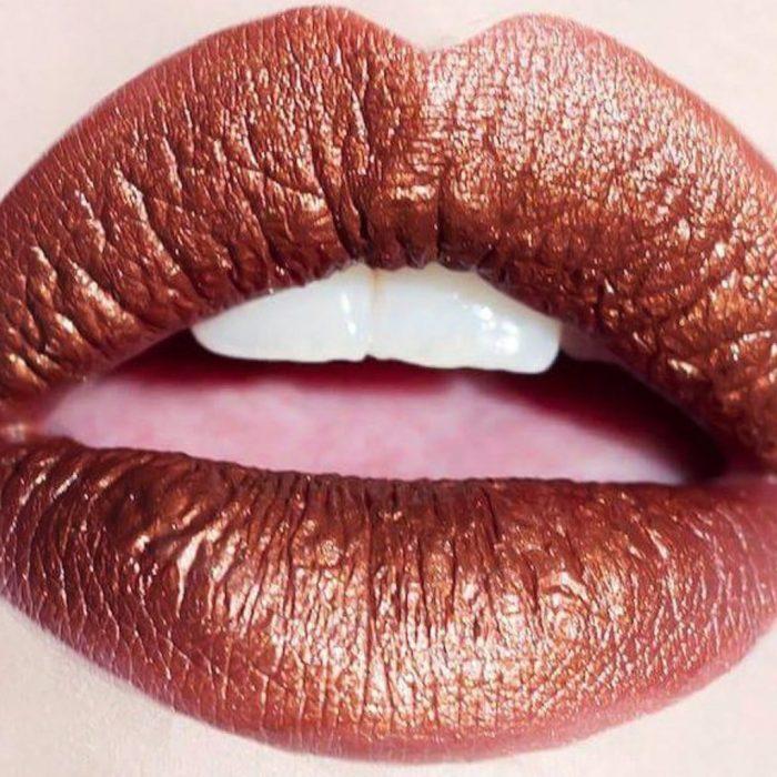labios labial ambar nacarado