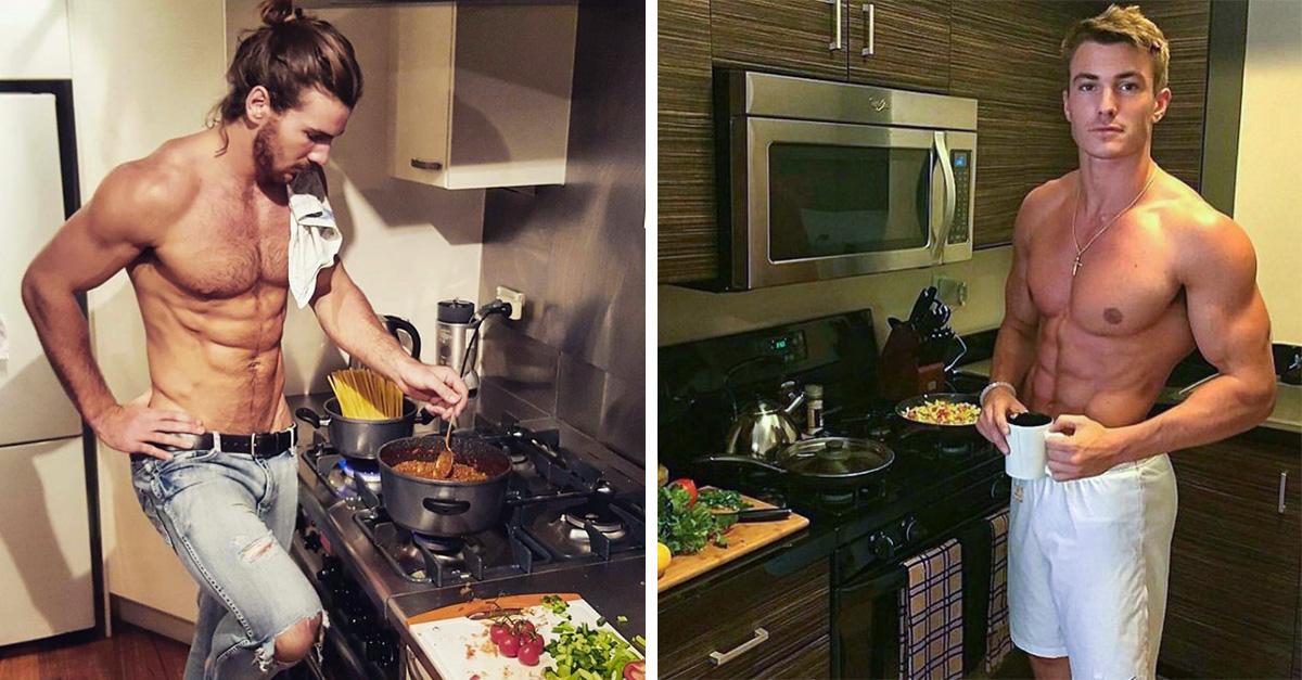 23 Fotos que prueban que el lugar del hombre es definitivamente la cocina