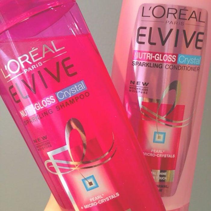 shampoo y acondicionador color rosa