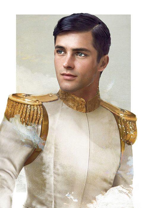 Dibujo real del príncipe encantador