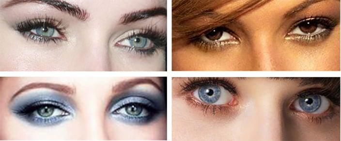 tipos de ojos en mujeres