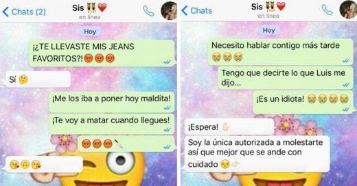 16 Mensajes de texto que sólo las chicas que tienen una hermana podrán entender