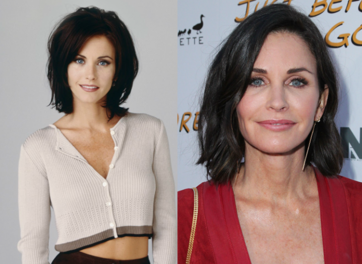 monica - courteney cox personajes de friends antes y despues