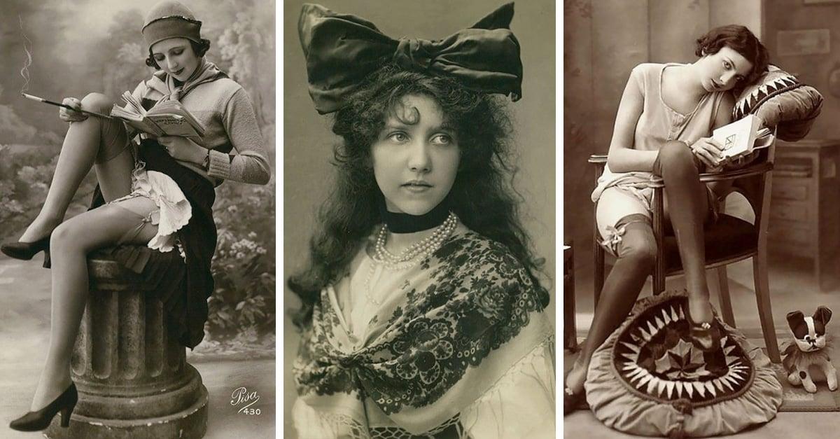 Colección de postales emitidas entre 1900 y 1910 muestra la belleza particular de más de 30 mujeres jóvenes de varios países