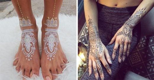 25 increíbles diseños de tatuajes de henna y temporales que demuestran que la belleza no no siempre se encuentra sólo en los ojos de quién la observa