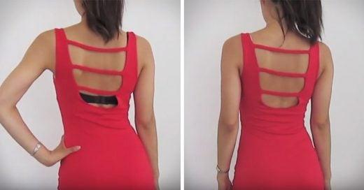 Video que muestra como transformar un sujetador normal en uno sin espalda