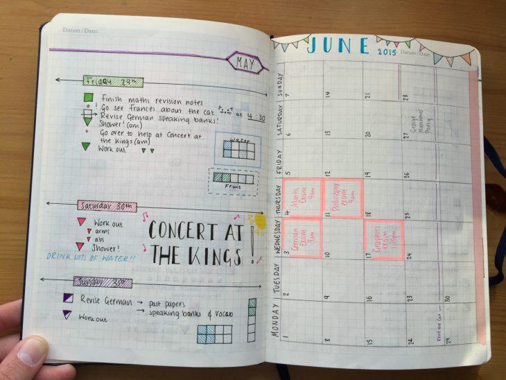 agenda con notas y calendario