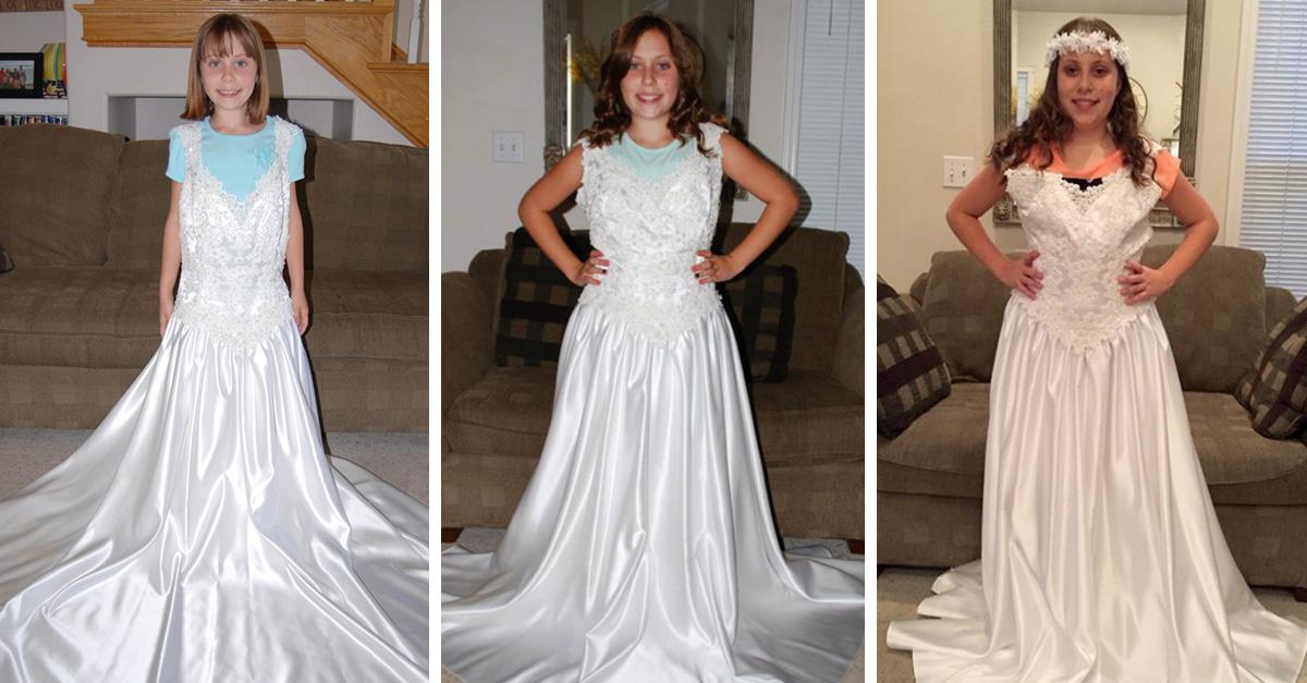 ella ha usado el mismo vestido cada año