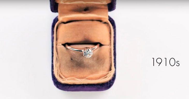 anillo de compromiso mode estilo 1910s