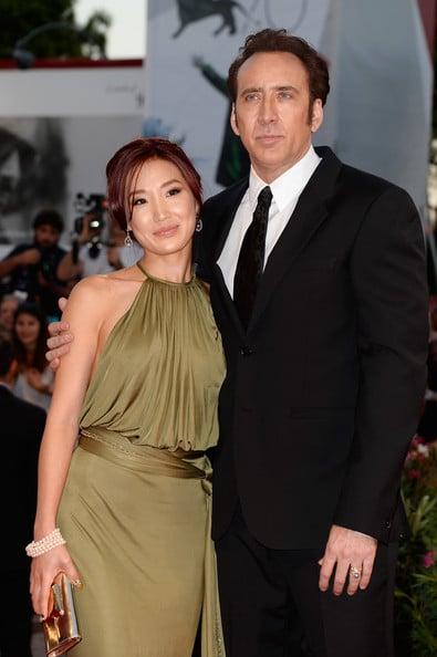 Alice Kim y Nicholas Cage
