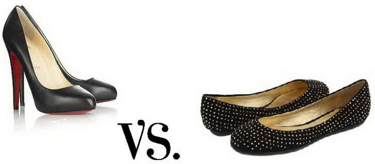 tacones vs zapatos planos