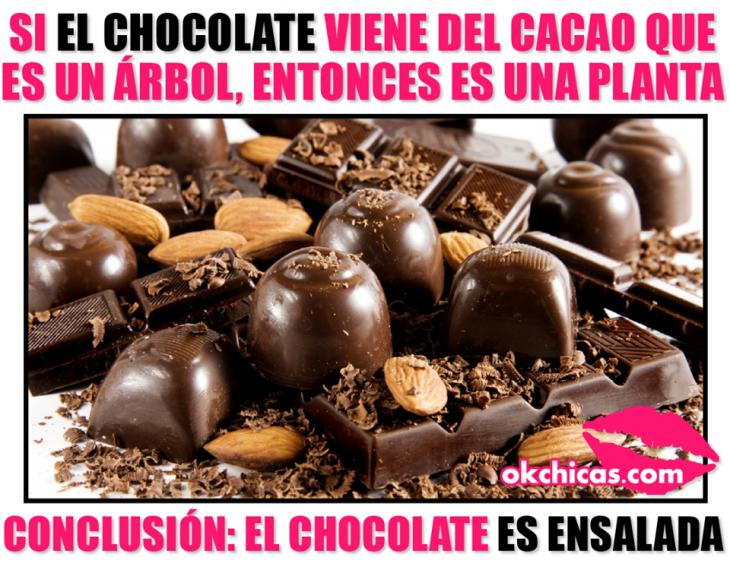 meme okchicas chocolates y dulces