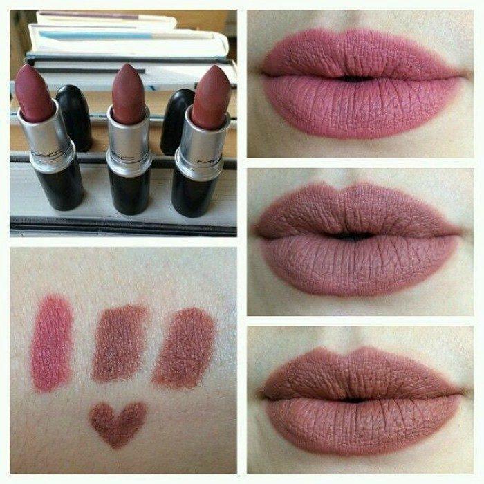 labios con colores mate y labiales