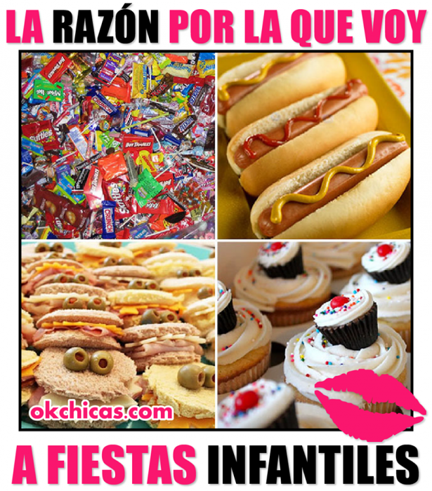 meme okchicas comida pasteles y hot dog
