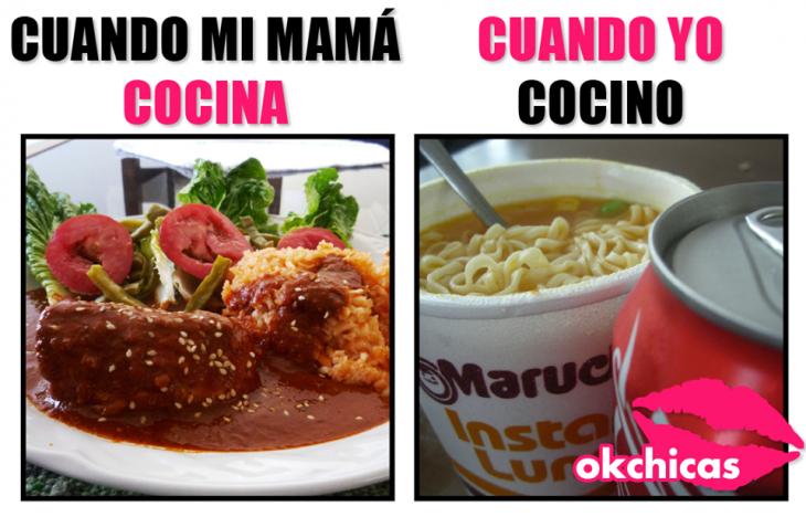 meme okchicas sopa maruchan y refresco comida mama