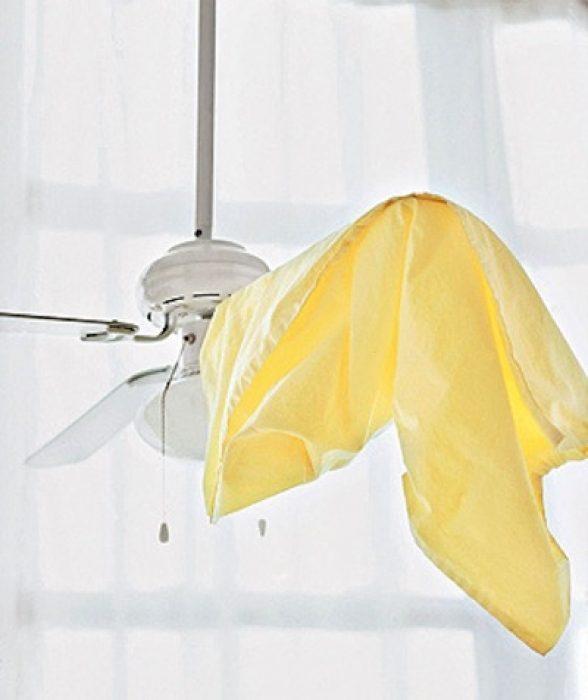 ventilador de techo con funda de almohada