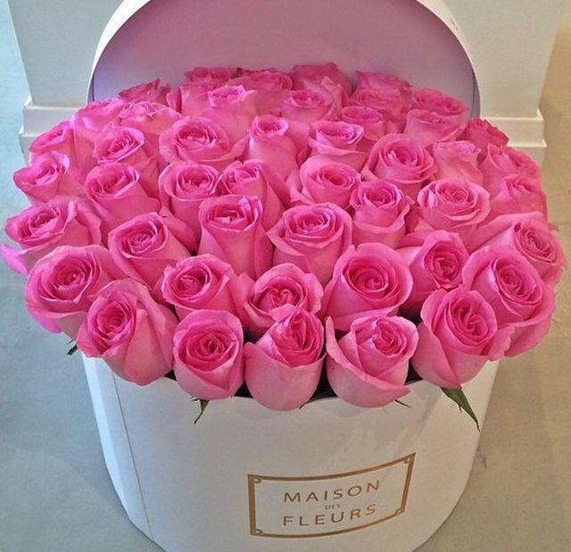 rosas rosas en caja