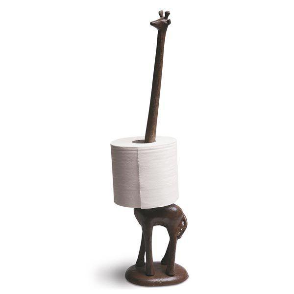 figura de jirafa para el papel higiénico