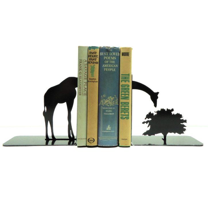 soportes para libros en forma de jirafa