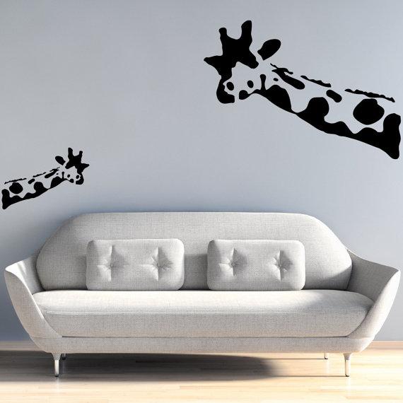 vinil para pared de jirafa