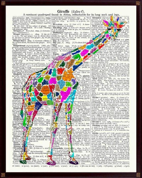 cuadro de jirafa