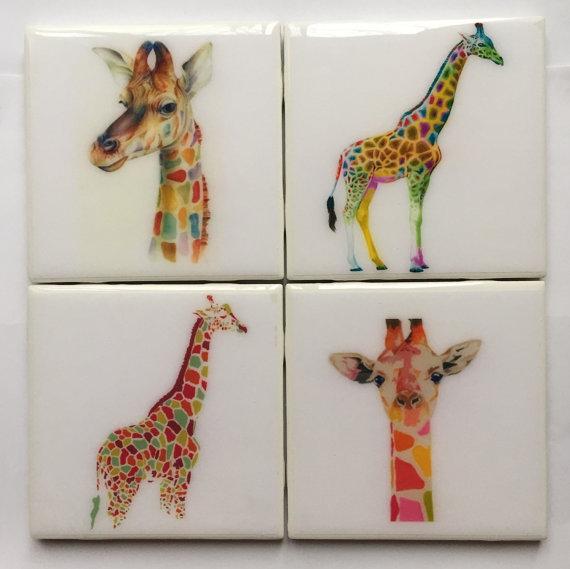 portavasos en forma de jirafa