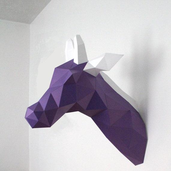 jirafa de cartón para pared