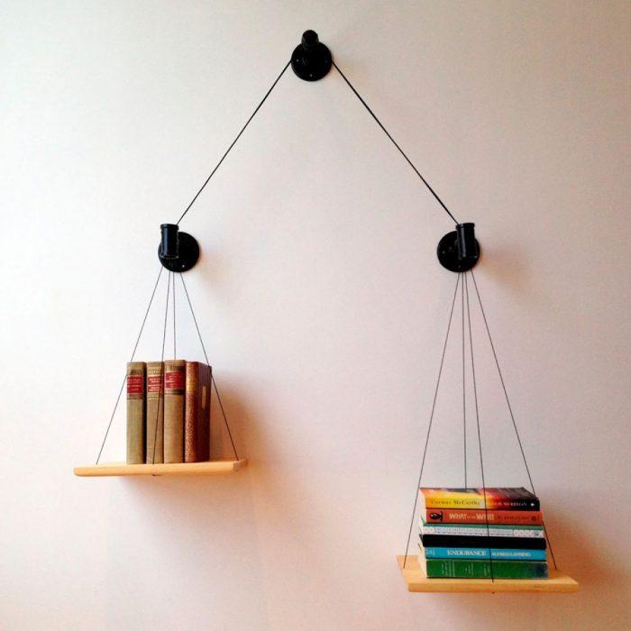 Estantes para libros colgantes