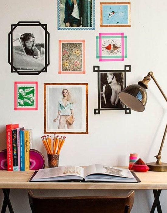 marcos para fotos con cinta washi