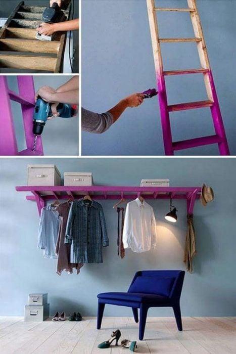 rack de escalera vieja