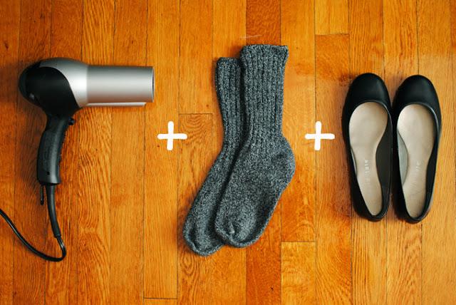 flats calcetas y secadora