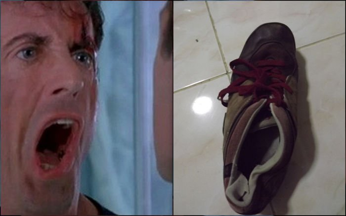 rocky balboa y zapato chueco