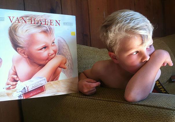portada de Van Halen y niño