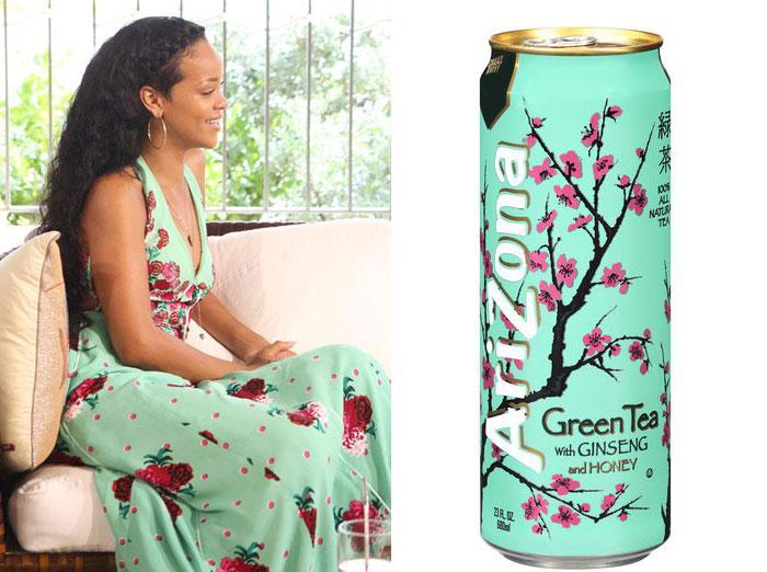 Rihanna y té Arizona