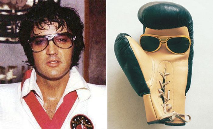 Elvis Presley y un guante de box