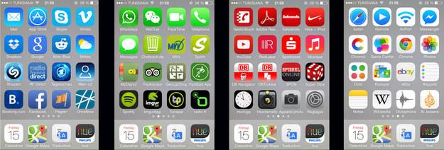 apps para celular ordenadas por color