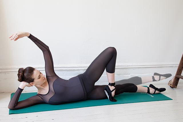 ejercicio de ballet para muslo interno