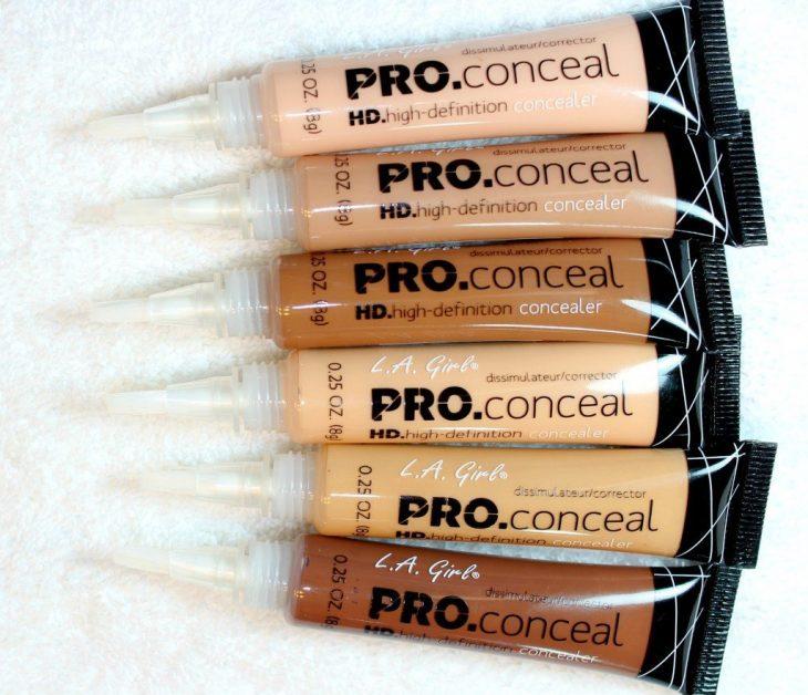 corrector de ojos para maquillaje en diferentes tonos