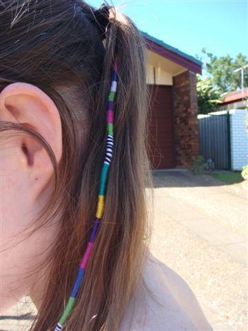 Trenza que se usaba en los 90's como accesorio para el cabello