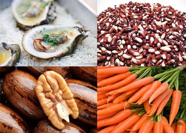 alimentos con zinc y hierro