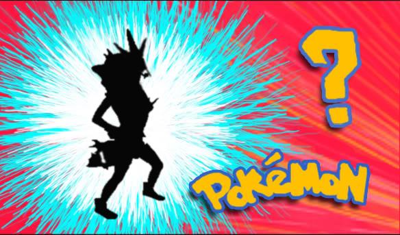 Chica vestida como el pokemon Gyarados con la portada de pokemon