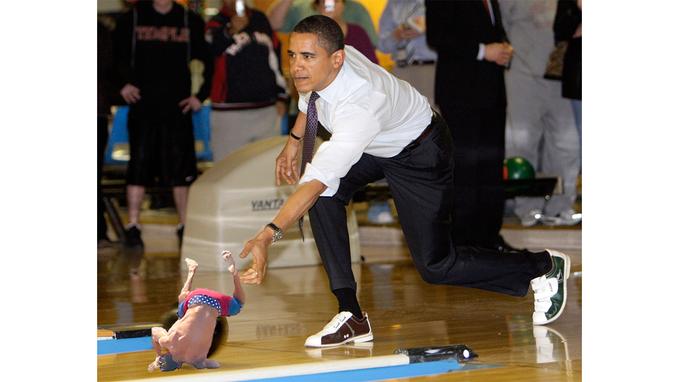 Batalla de photoshop Zac Efron como bola de boliche