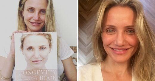 Cameron Díaz publica una selfie sin una gota de maquillaje en su cuenta de Instagram para promocionar su último proyecto The Longevity Book (El Libro de la Longevidad)
