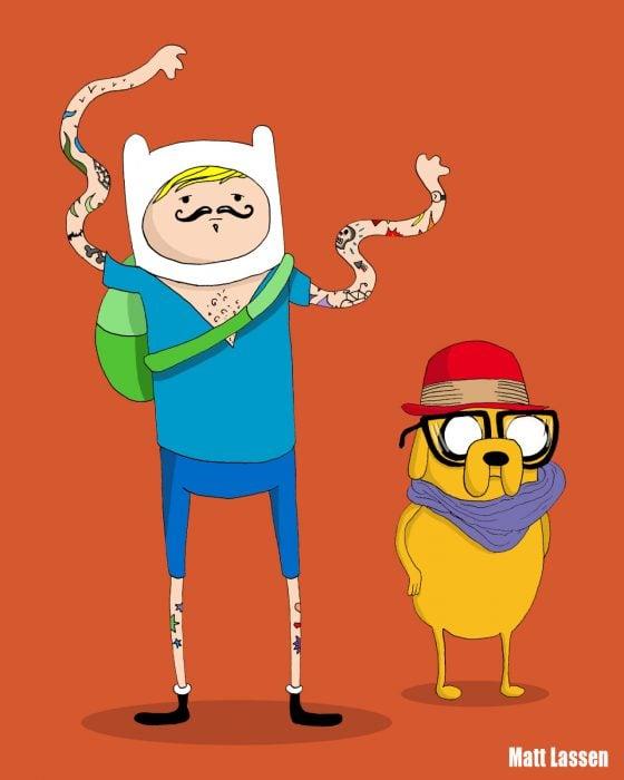 Finn y Jake, Hora de aventura hipsters